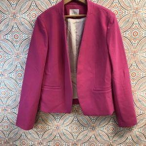 LOFT   Pink fitted blazer